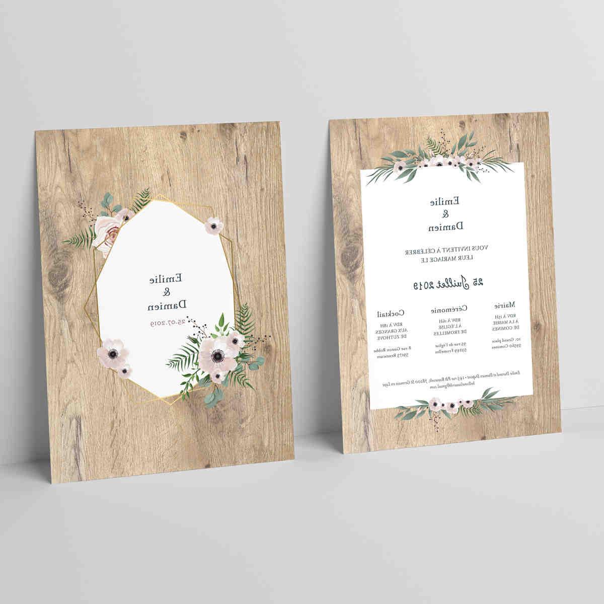 Quel est le texte de l'invitation de mariage?