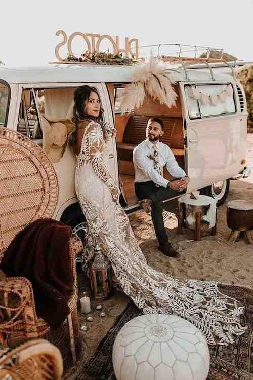 Quelle robe de mariée bohème chic?