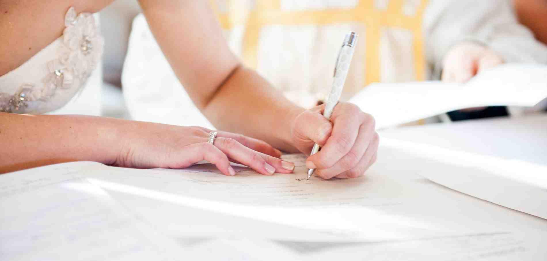Quels documents font un contrat de mariage?